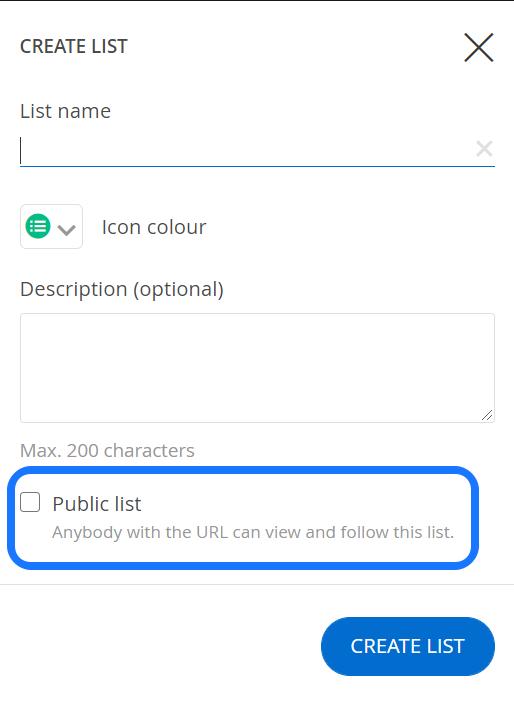 public list