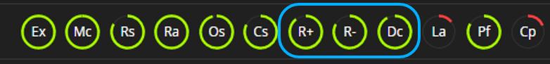 ¿Dónde puedo ver los datos de los Atributos Invertibles de R+/R-/Dc?