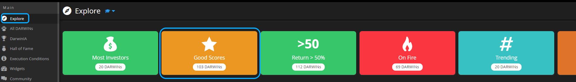 FIlter good scores